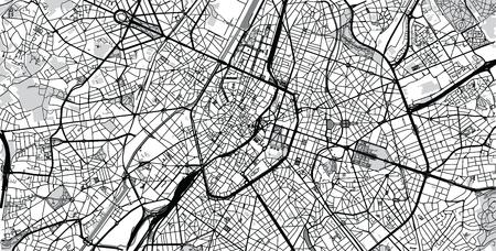 Urban vector city map of Brussels, Belgium