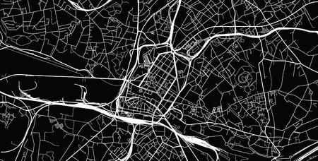 Urban vector city map of Charleroi, Belgium