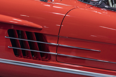 Close up detail on a sports car Stock Photo