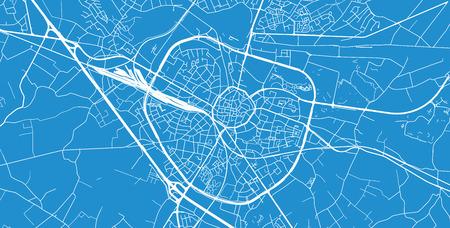 Urban vector city map of Hasselt, Belgium Vektoros illusztráció