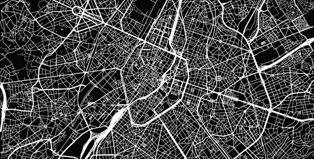 Urban vector city map of Brussels, Belgium