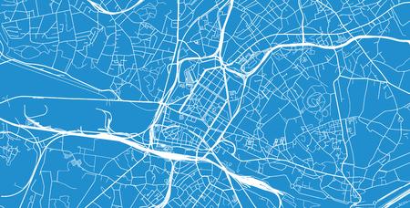 Plan de la ville de vecteur urbain de Charleroi, Belgique