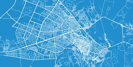 Urban vector city map of Diyarbakir, Turkey
