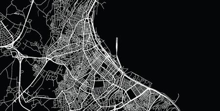 Urban vector city map of Samsun, Turkey Vektoros illusztráció