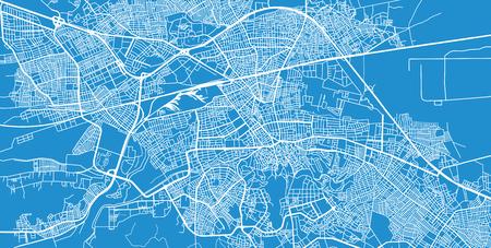 Urban vector city map of Eskisehir, Turkey
