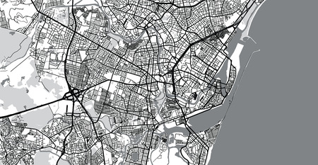 Urban vector city map of Recife, Brazil Imagens - 124089387