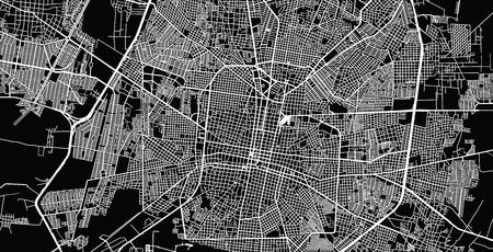 Urban vector city map of Merida, Mexico Vektoros illusztráció
