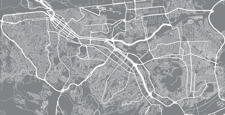 Urban vector city map of Tijuana, Mexico