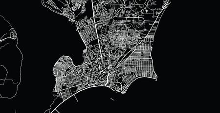 Urban vector city map of Maceio, Brazil