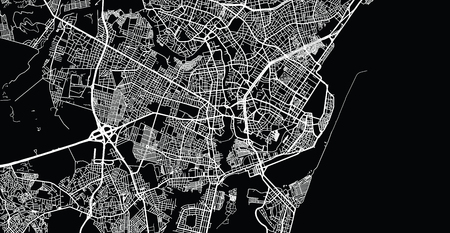 Urban vector city map of Recife, Brazil Imagens - 123403412