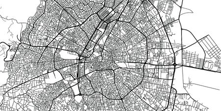 Urban vector city map of Konya, Turkey Vektoros illusztráció