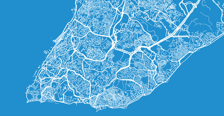 Urban vector city map of Salvador, Brazil
