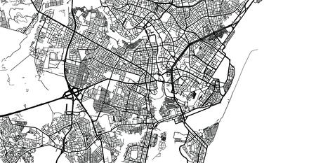Urban vector city map of Recife, Brazil