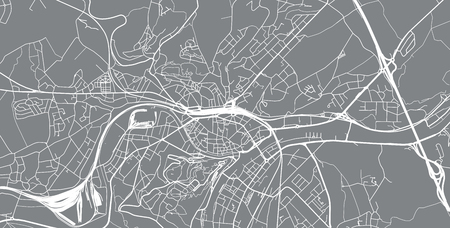 Urban vector city map of Namur, Belgium Illustration