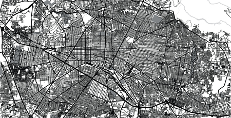 Urban vector city map of Guadalajara, Mexico Stockfoto - 123112188