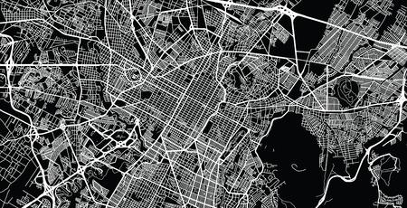 Urban vector city map of Puebla, Mexico Illustration