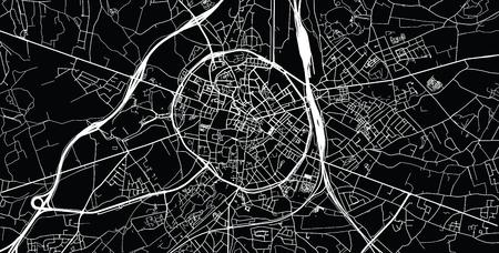 Stedelijke vector stadsplattegrond van Leuven, België Vector Illustratie