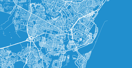 Urban vector city map of Recife, Brazil Imagens - 121451829