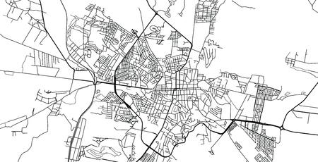 Urban vector city map of San Miguel, Mexico