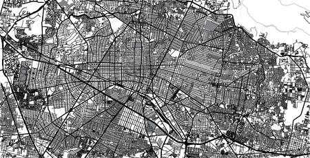 Urban vector city map of Guadalajara, Mexico