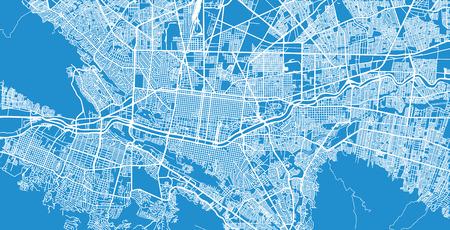 Urban vector city map of Monterrey, Mexico