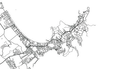 Urban vector city map of Buzios, Brazil