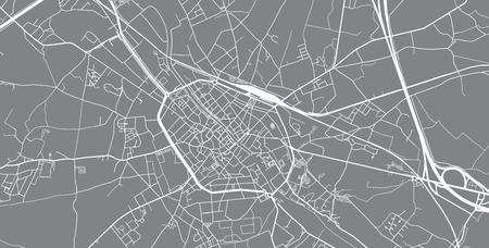 Urban vector city map of Tournai, Belgium