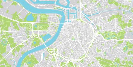 Städtischer Vektorstadtplan von Antwerpen, Belgien