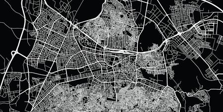Urban vector city map of Gaziantep, Turkey Ilustração