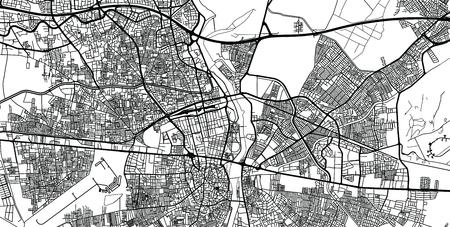 Urban vector city map of Adana, Turkey Stockfoto - 122727764