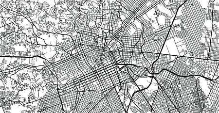 Urban vector city map of Curitiba, Brazil Vektoros illusztráció