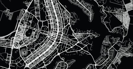 Urban vector city map of Brasilia, Brazil Vektoros illusztráció