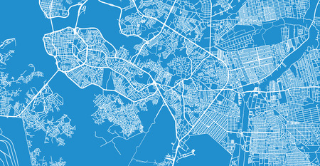 Urban vector city map of Sao Luis, Brazil 向量圖像