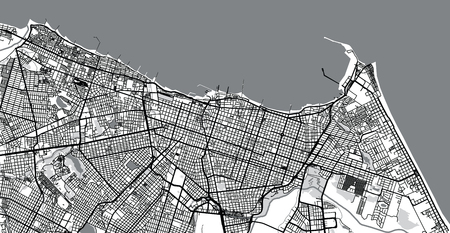 Urban vector city map of Fortaleza, Brazil