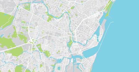 Urban vector city map of Recife, Brazil Imagens - 122727822