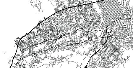Urban vector city map of Sao Goncalo, Brazil