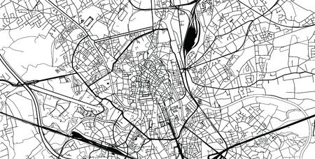 Städtischer Vektorstadtplan von Gent, Belgien
