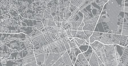 Urban vector city map of Curitiba, Brazil