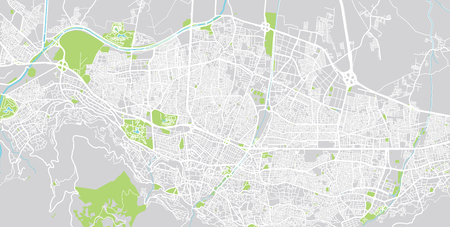Urban vector city map of Bursa, Turkey 向量圖像