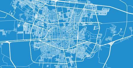 Urban vector city map of Celaya, Mexico