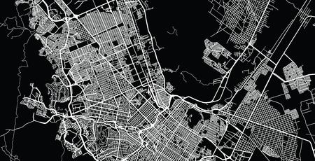 Urban vector city map of Chihuahua, Mexico