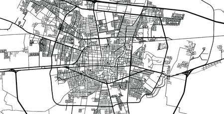 Urban vector city map of Celaya, Mexico Stockfoto - 122469214
