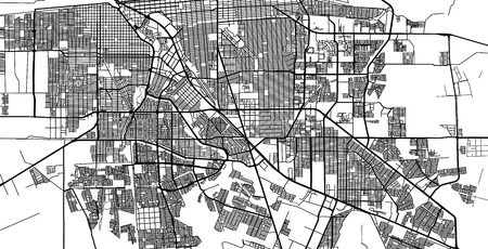 Urban vector city map of Mexicali, Mexico 向量圖像