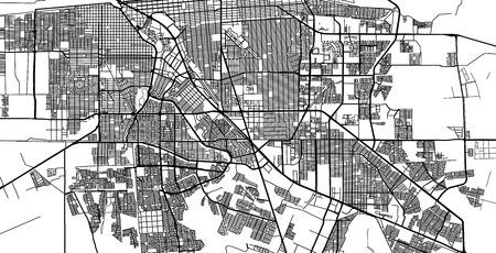 Urban vector city map of Mexicali, Mexico Ilustração