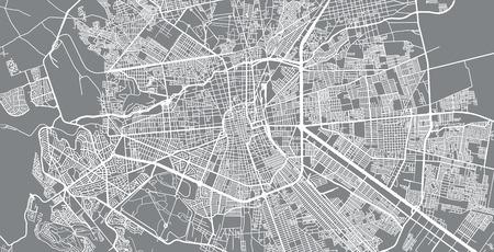 Urban vector city map of San Luis Potosi, Mexico