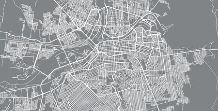 Vector urbano mapa de la ciudad de Caliacán, México Ilustración de vector
