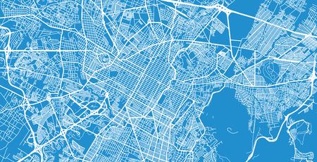Urban vector city map of Puebla, Mexico Ilustrace