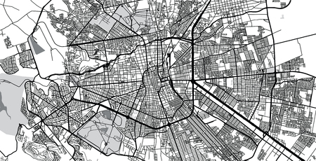 Urban vector city map of San Luis Potosi, Mexico