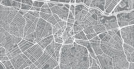 Urban vector city map of Sao Paulo, Brazil Ilustração
