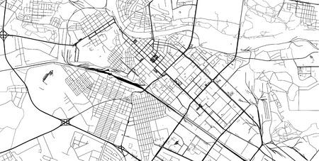 Urban vector city map of Tyumen, Russia